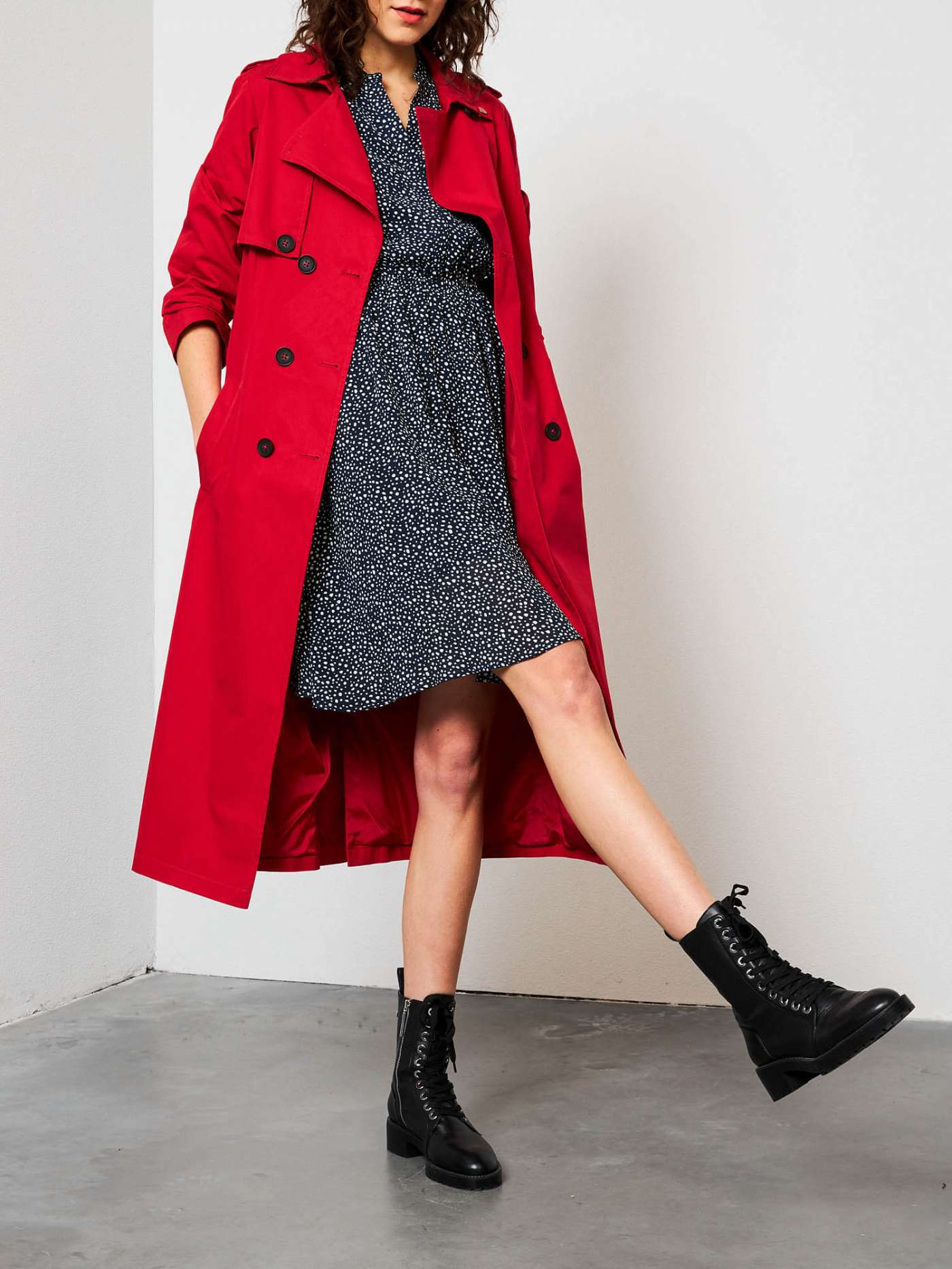 Red Hot trench coat