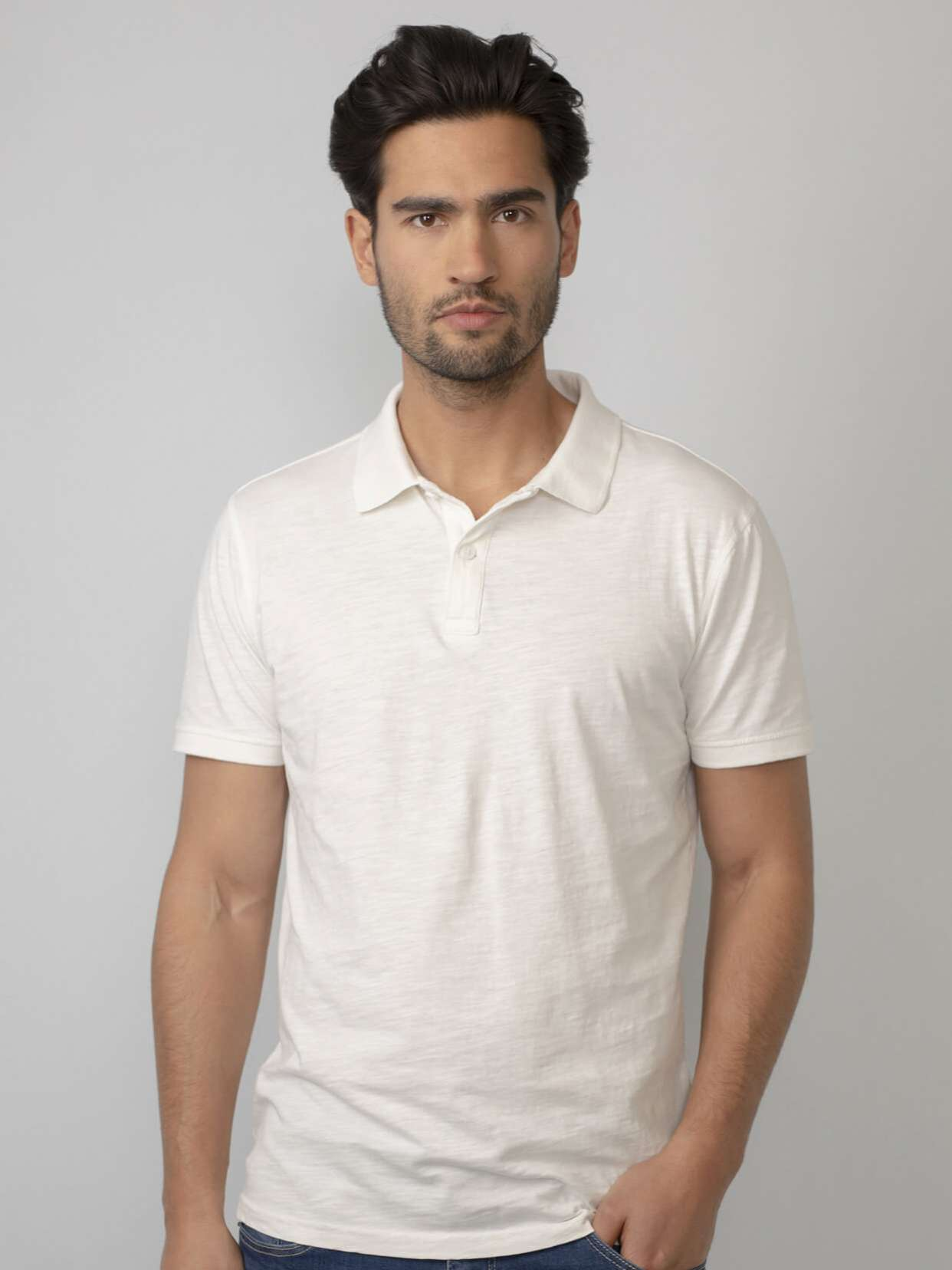 Marl polo shirt