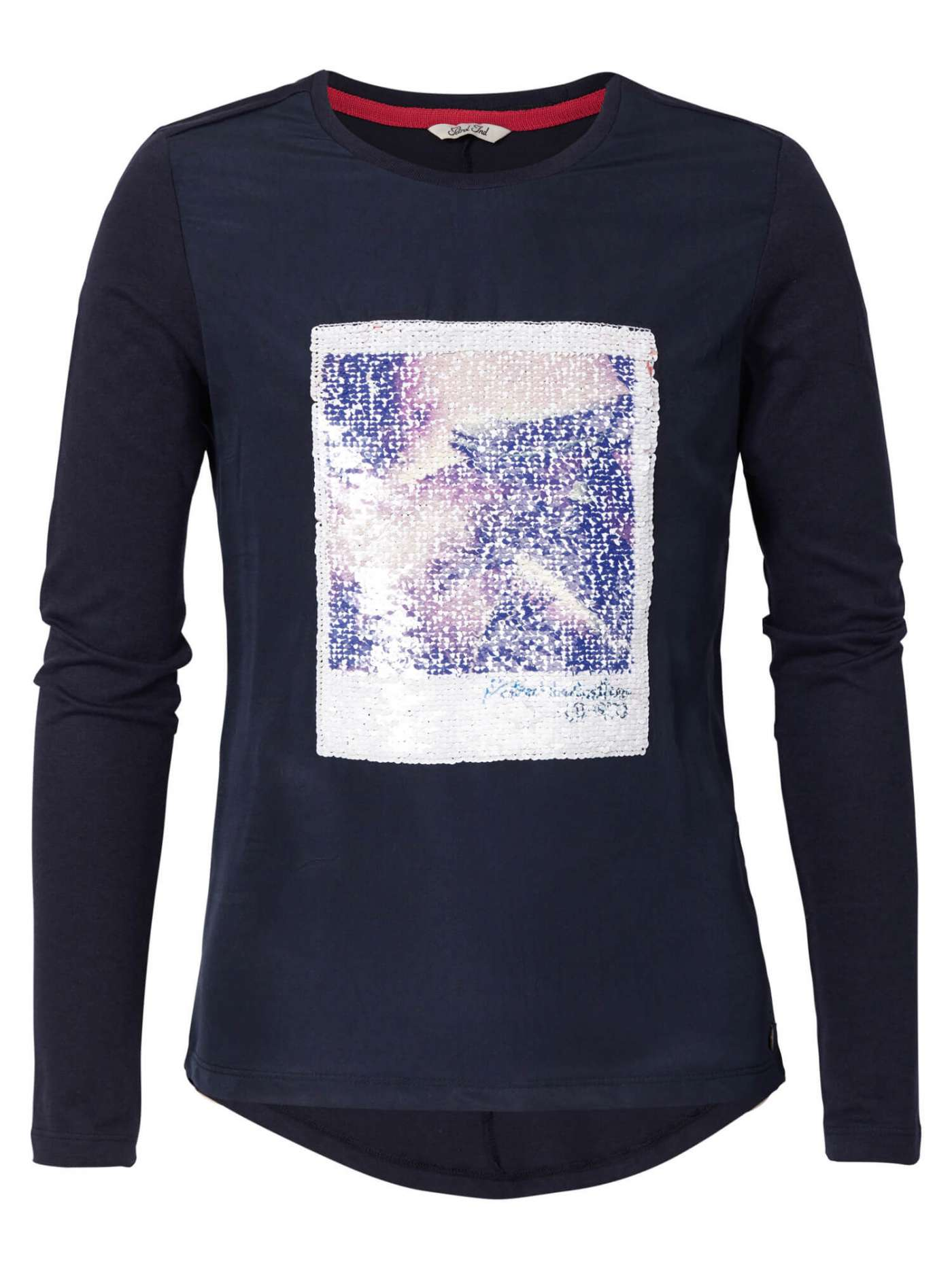 Long-Sleeve Sequined T-shirt