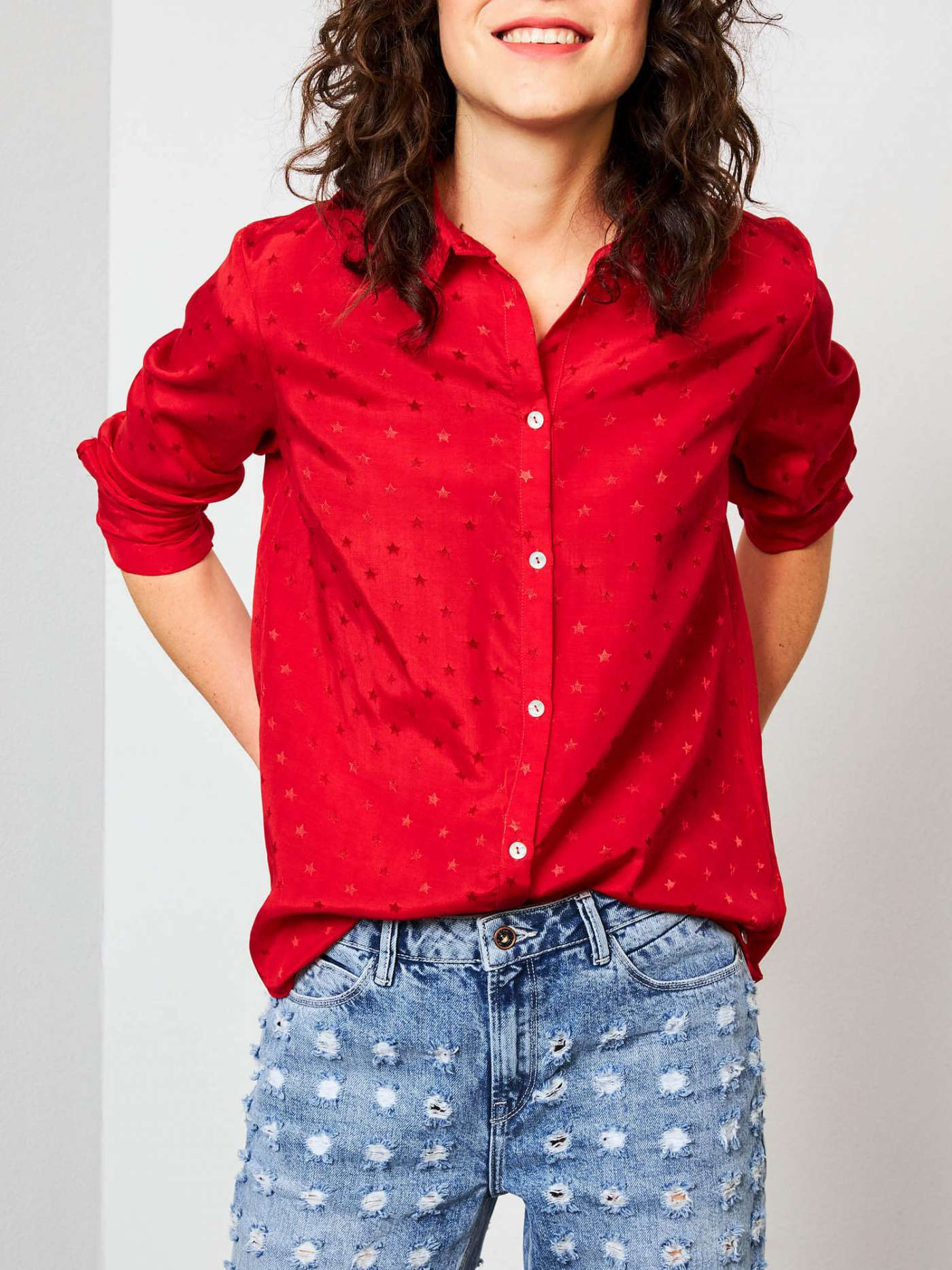 Star print blouse | Official Petrol Industries® Online Store