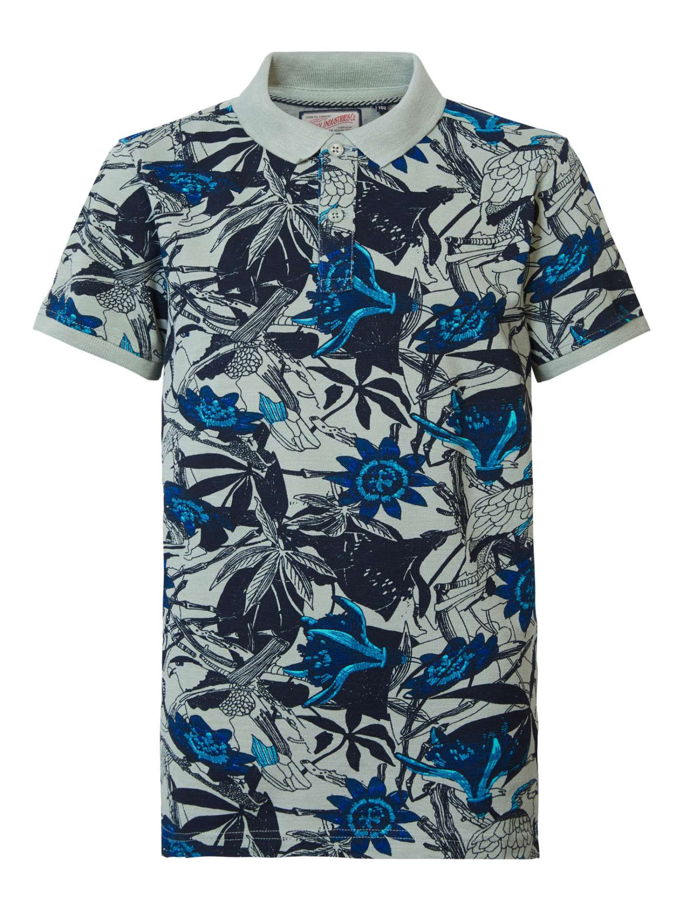 Botanical polo shirt