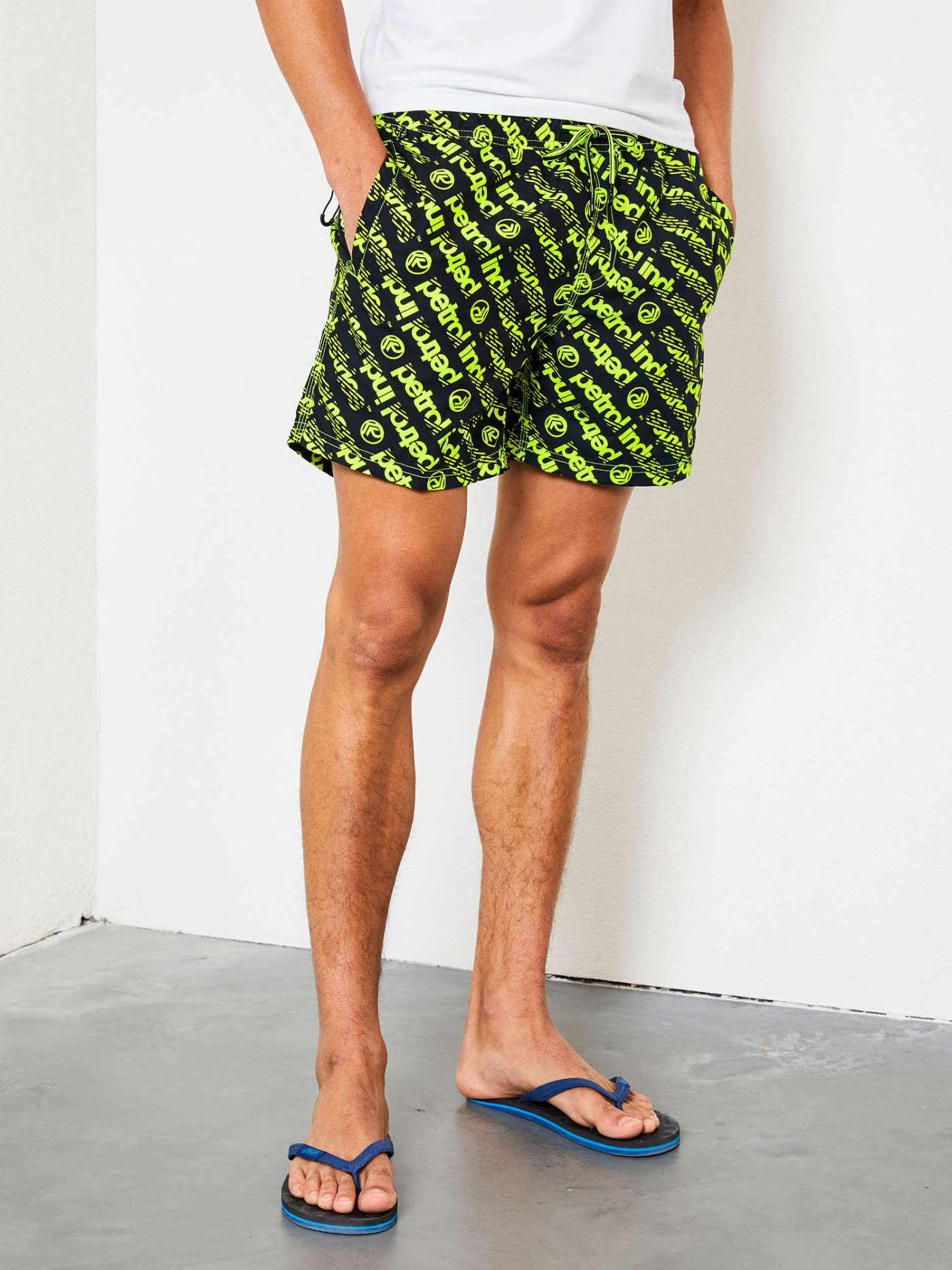 Swimming shorts with artwork