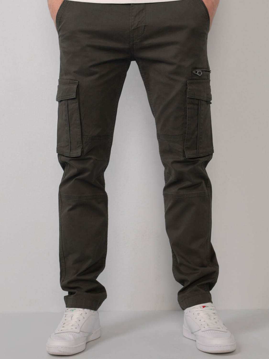 Sustainable cargo trousers