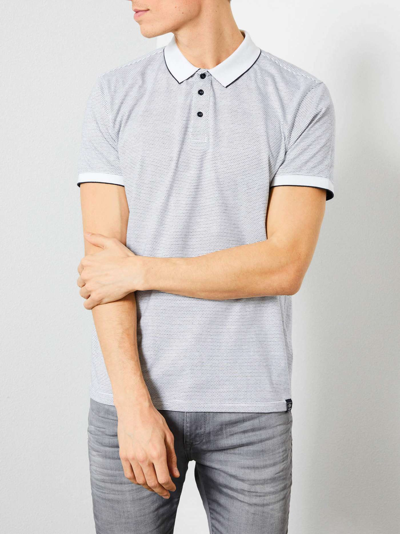 Polo shirt with an all-over print