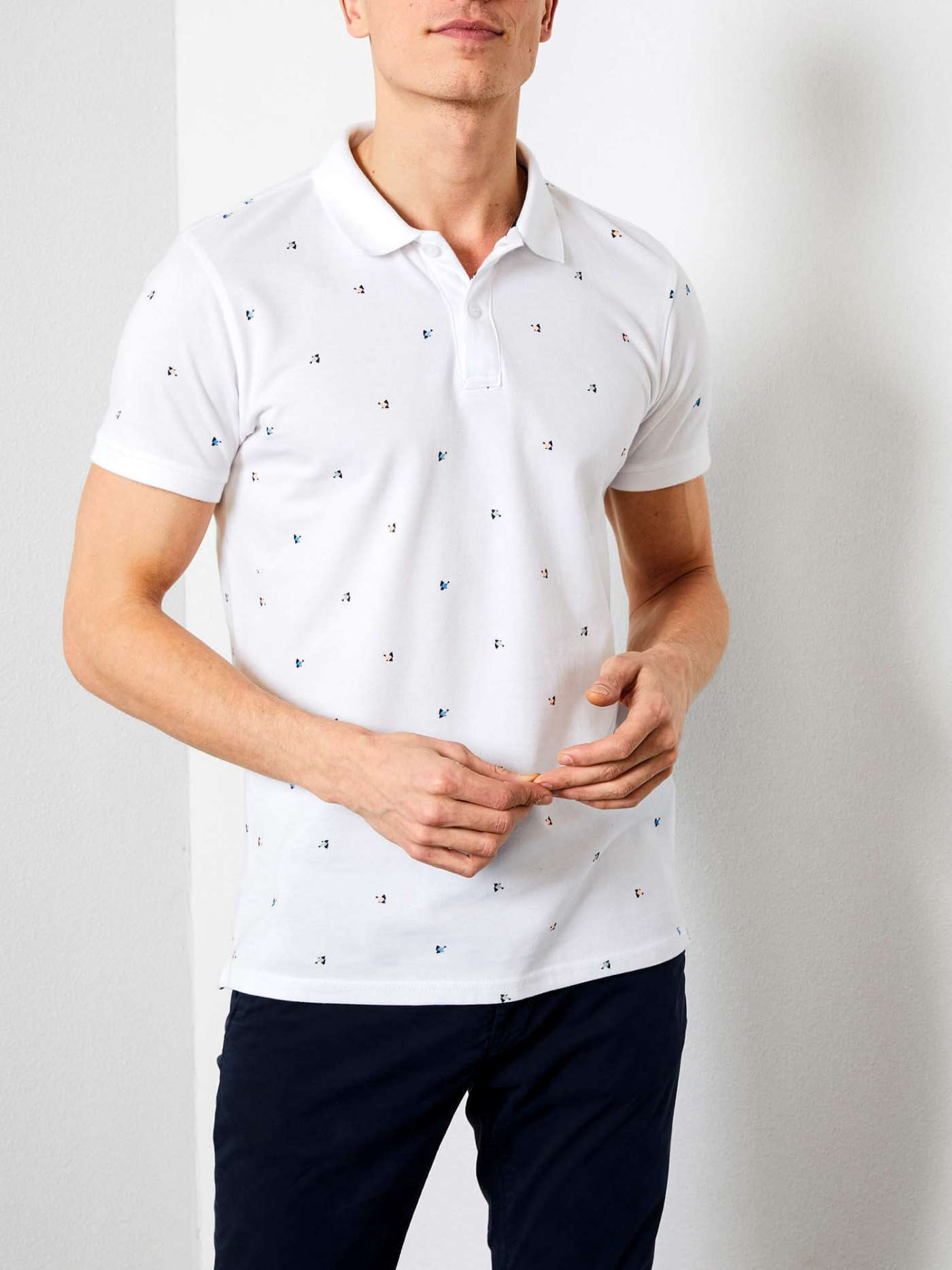 Polo shirt with all-over print