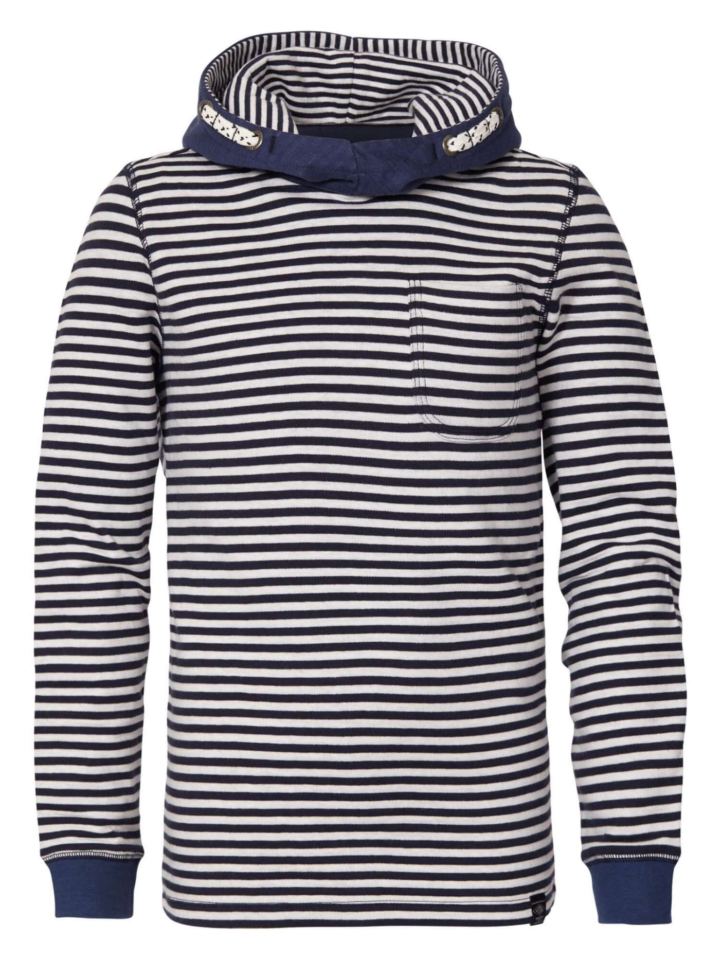 Long-sleeved T-shirt with hood