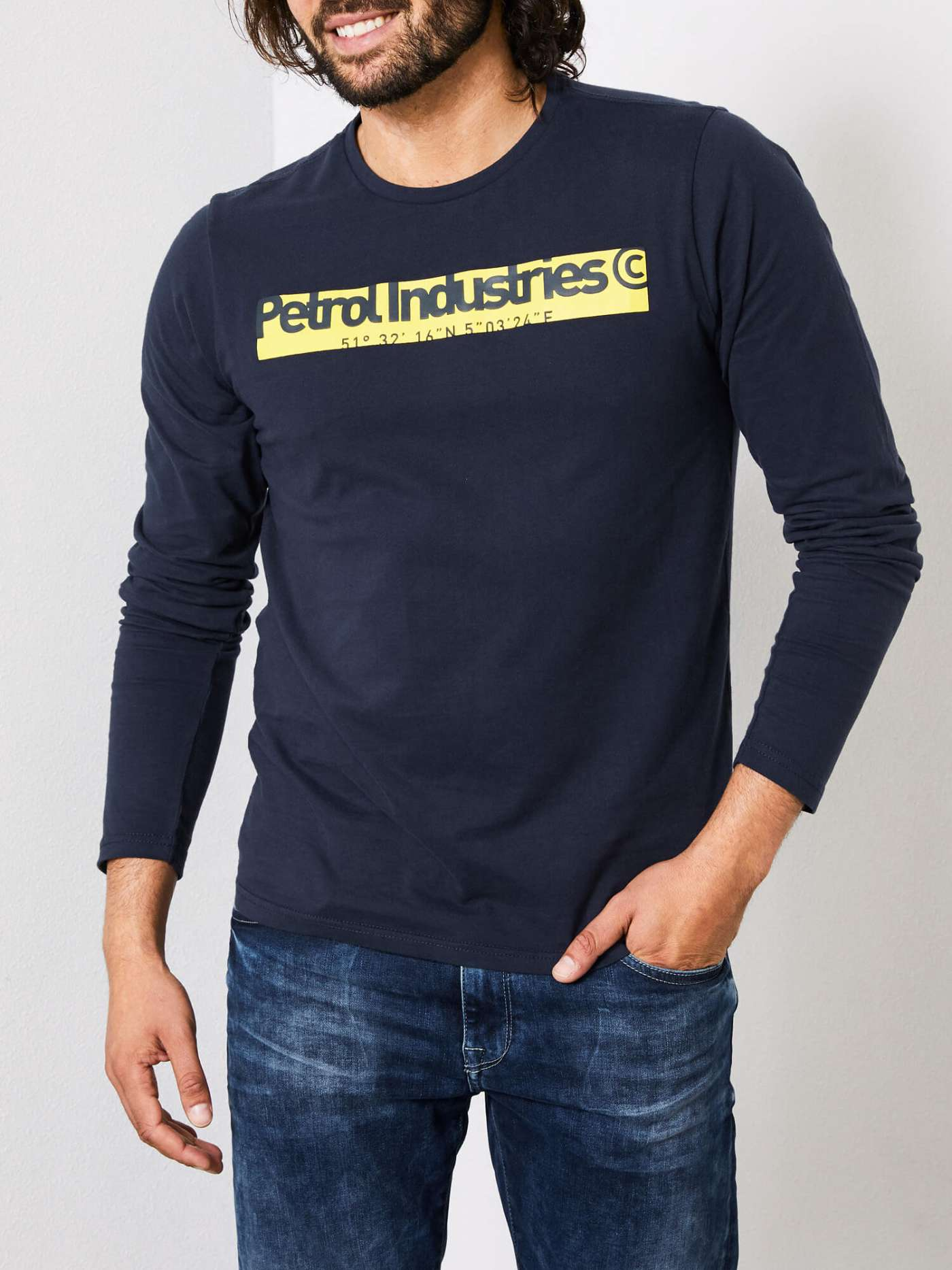 Long-Sleeved Petrol Industries Shirt