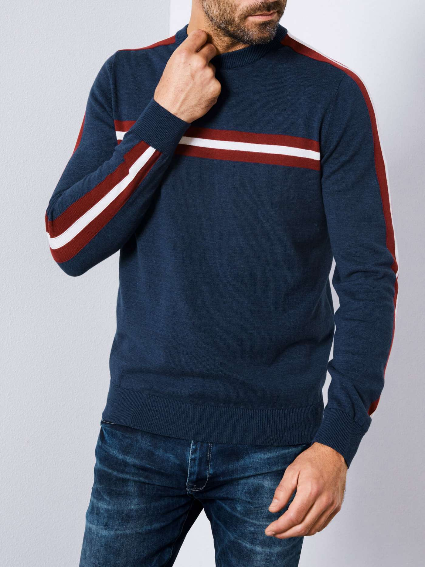 Striped Detailed Pullover