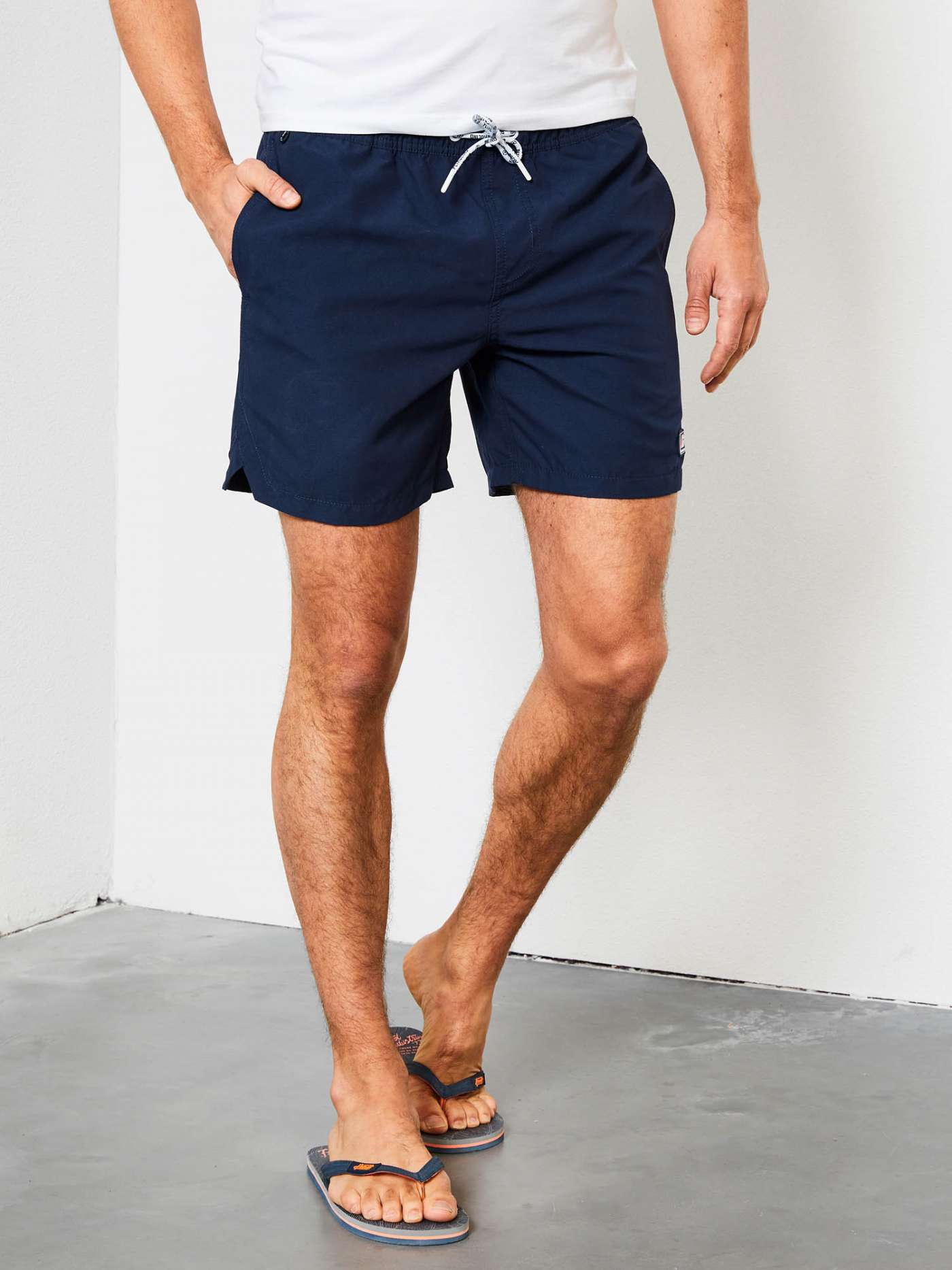 Solid-coloured swimming shorts