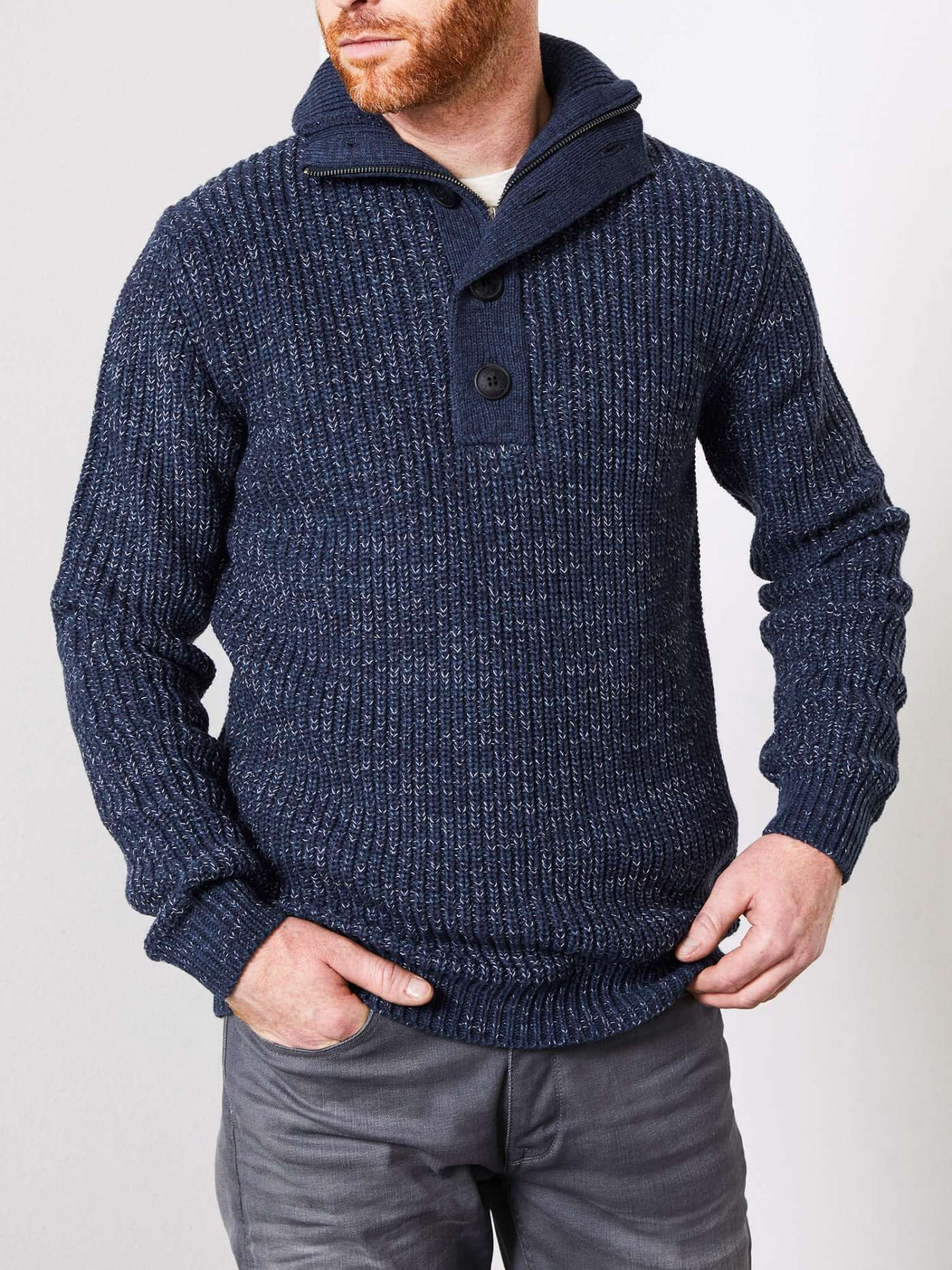 Button Marl Pullover