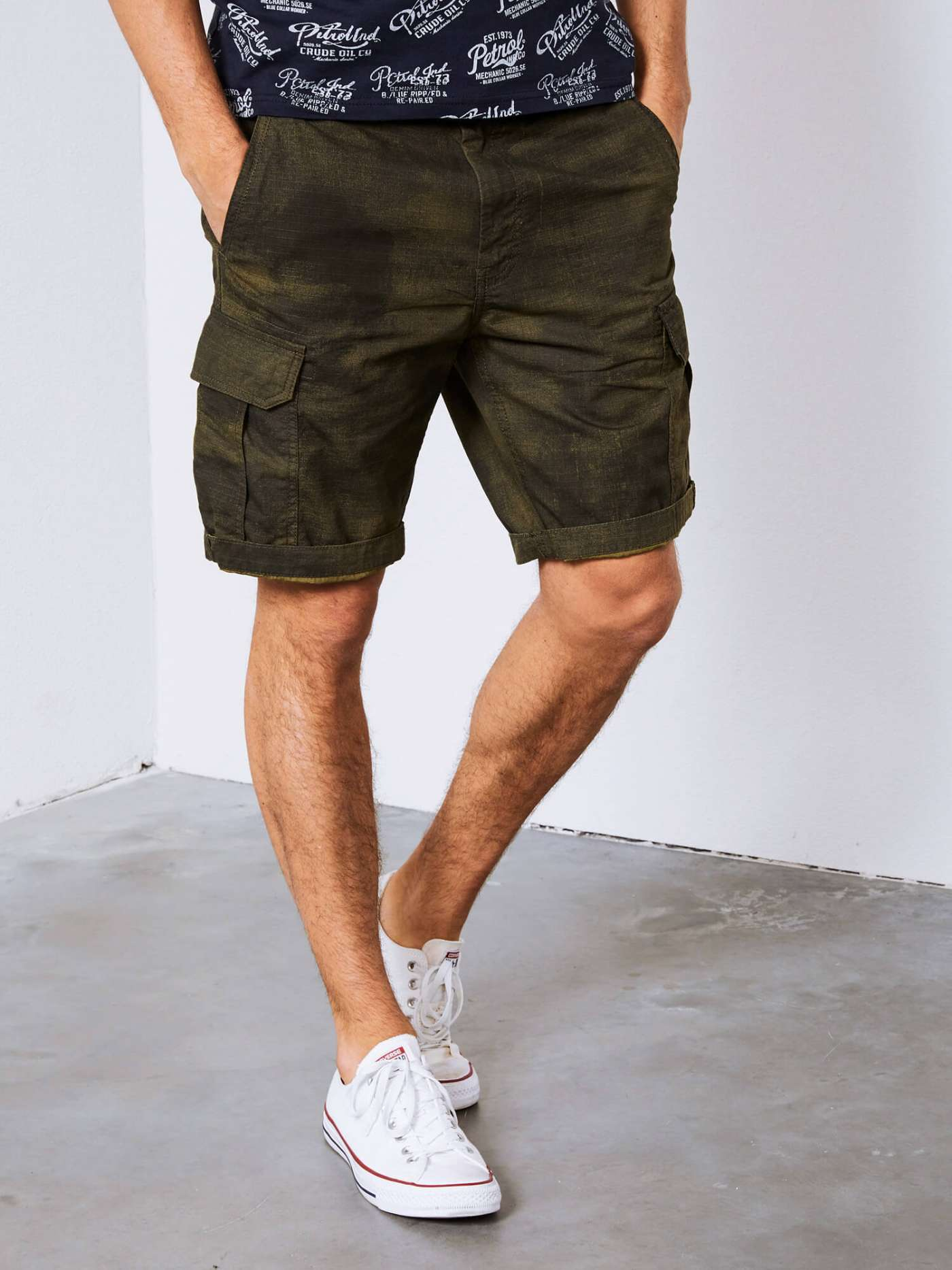 Shorts with blotches